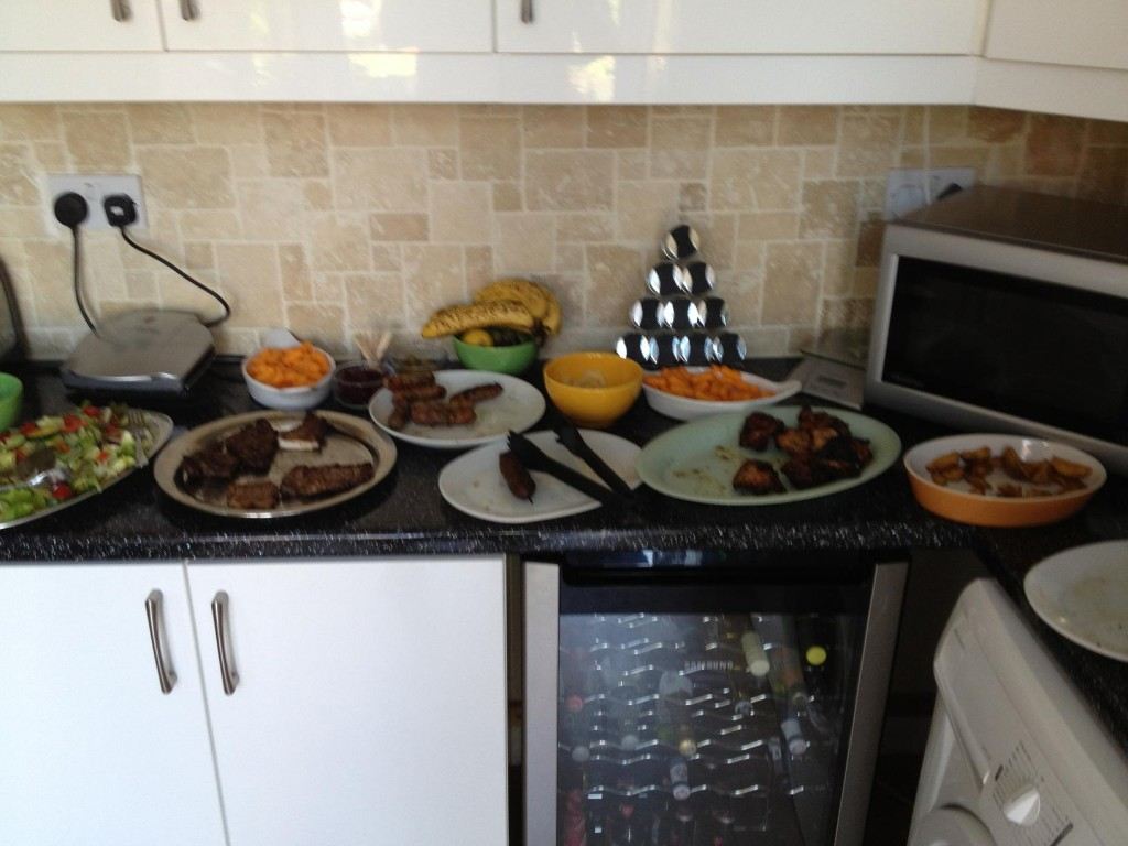 It was too much to ask for one picture of the spread before everyone fed themselves!