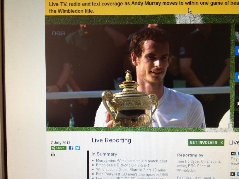 Andy Murray  - 2013 Wimbledon Champion!