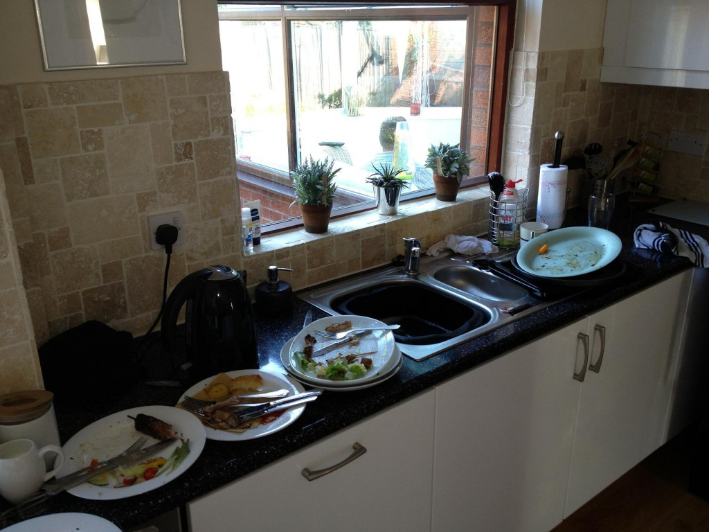 The worst bit - the dishes!